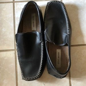 2542099fa29 Steve Madden Shoes - Steve Madden Black Vicius Slip-On Loafers